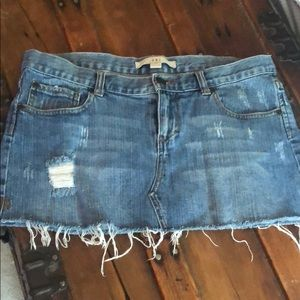 XXI Denim Distressed Mini Skirt